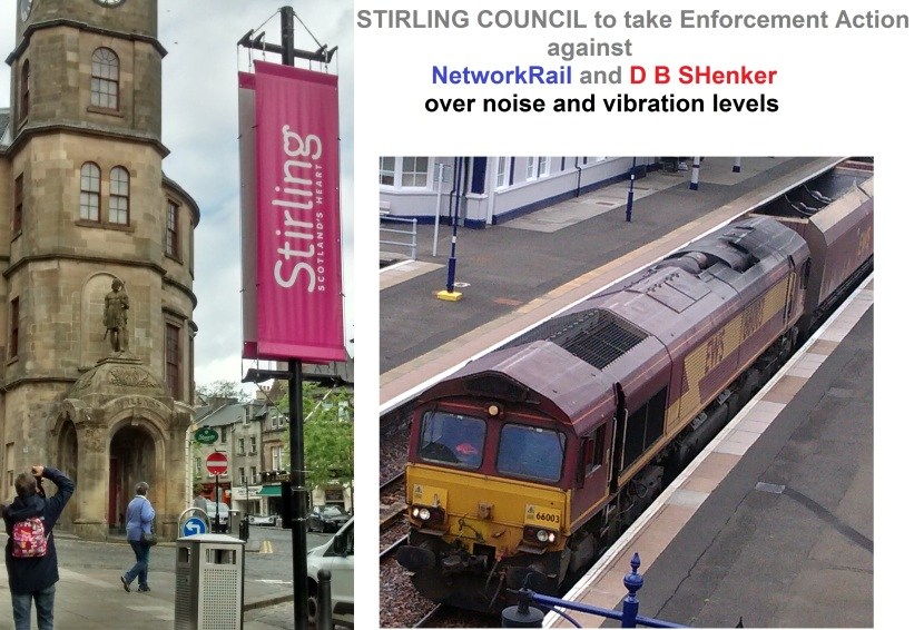 Stirling Council to act over noise and vibration from Railway